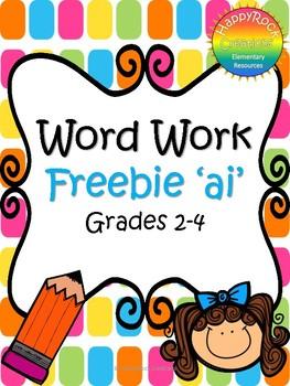 Word Work Freebie 'ai'