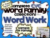Word Work Freebie - at Family Sample - Word Cards - CVC