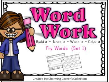 Word Work (Fry Words Set 1)