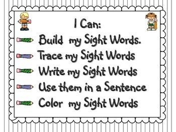Word Work (Fry Words Set 2)
