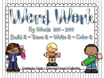 Word Work (Fry Words Set 3)