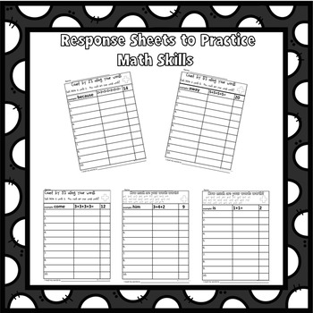 sight word worksheets spelling practice and a little math fun grades 1 2. Black Bedroom Furniture Sets. Home Design Ideas