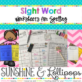 Sight Word Worksheets, Spelling Practice and a little MATH