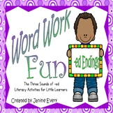 Word Work with -ed Endings