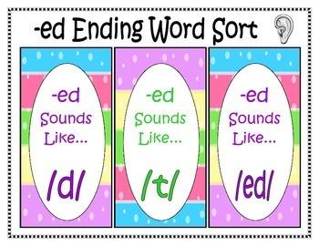 Word Work with -ed Endings