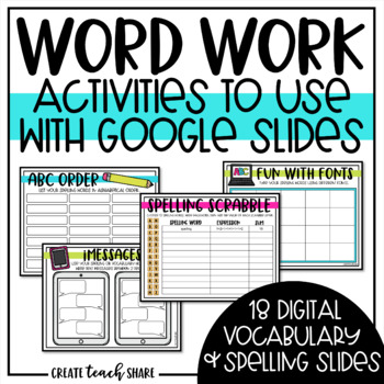 Digital Word Work to Use with Google Slides | Distance Learning