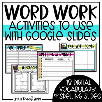 Word Work GOOGLE Edition
