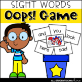 Sight Words {Oops! Game}