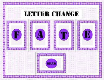 Word Work Game: Letter Change