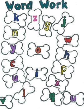 Word Work Game (Woof Woof Word Work)
