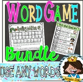 Word Games - 7 games you can use ALL YEAR (word work)