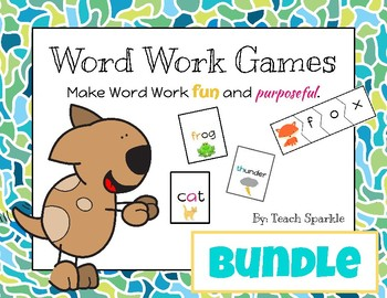 Word Work Games Bundle (Go Fish & Word Puzzles)