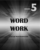 Word Work Grade 5 - Complete Curriculum