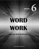 Word Work Grade 6- Complete Curriculum