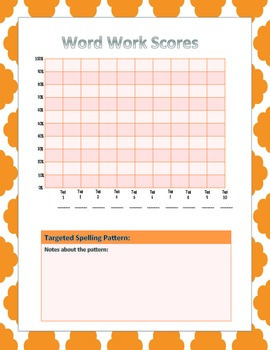 Word Work Graph