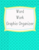 Word Work Graphic Organizer in Spanish and English