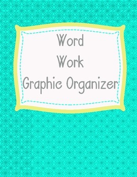 Word Work Graphic Organizer in Spanish and English