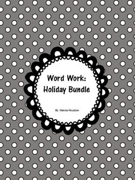 Word Work - Holiday Bundle