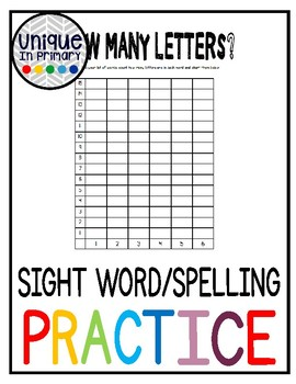 Word Work: How many letters?