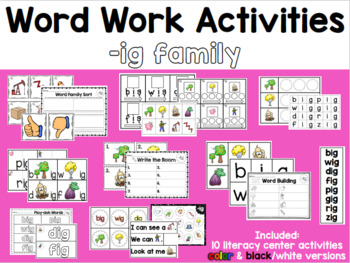 Word Work: -IG Word Family