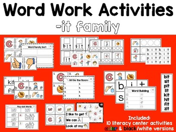 Word Work: -IT Word Family