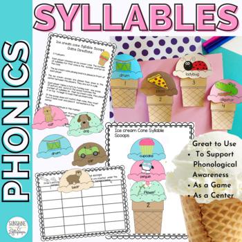 Syllable Sort: Ice Cream Cone Syllables