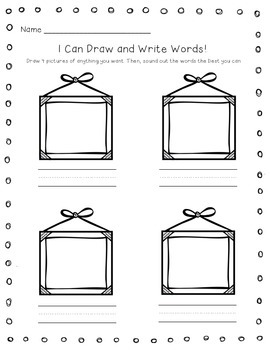 Work on Writing Idea Printables