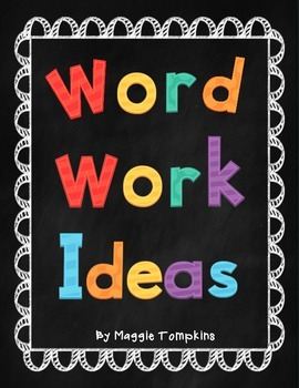 Work on Writing Idea Printables