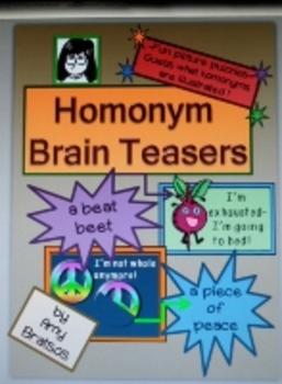 Word Work Illustrated Homonym Brain Teaser Puzzle Activity