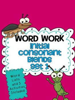 Word Work - Initial Consonant Blends Set 1