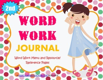 Word Work Journal / Interactive Notebook for Second (2nd) Grade