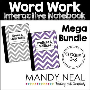 Word Work Interactive Notebook Mega Bundle