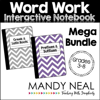 Word Work Interactive Notebook Mega Bundle