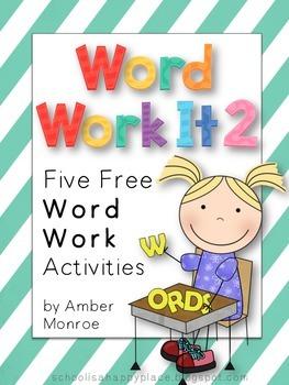 Word Work It 2 {Five More Free Word Work Activities}