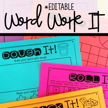 Word Work It! Activities For Word Work