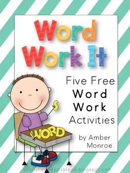 Word Work It {Five Free Word Work Activities}