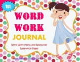 Word Work Journal / Interactive Notebook for First (1st) Grade