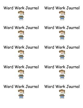Word Work Journal Labels