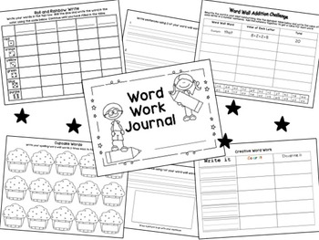 Word Work Journal - Practice Worksheets for any words