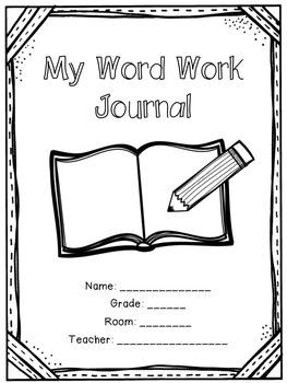 Word Work Journal for Upper Grades