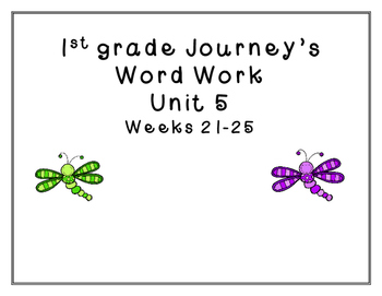 Word Work Journey's Unit 5