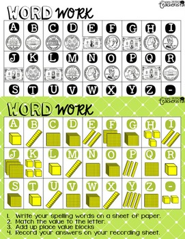 Word Work [Just add your spelling list]