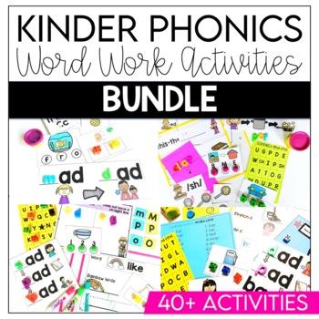 Word Work Kindergarten BUNDLE: Levels A-D