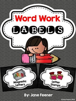 Word Work Labels - FREEBIE