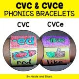 Bracelet Crafts - Phonics CVC and CVCe Words