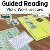 Word Work Lessons for Guided Reading- Early readers
