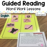 Word Work Lessons for Guided Reading- Emergent readers