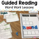 Word Work Lessons for Guided Reading- Transitional readers