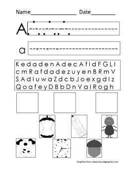 Word Work Letter A