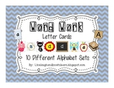 Word Work Letter Cards--Spelling Station
